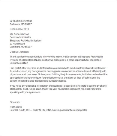 Informational interview cover letter