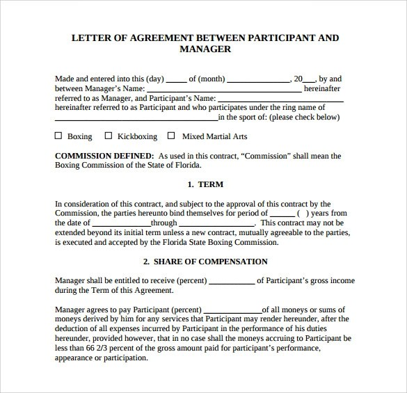 letter of agreement template Letter – Child Support Agreement Template