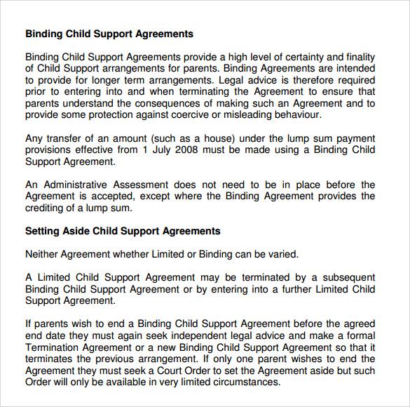 Sample Child Support Agreement Letter Philippines Docoments Ojazlink