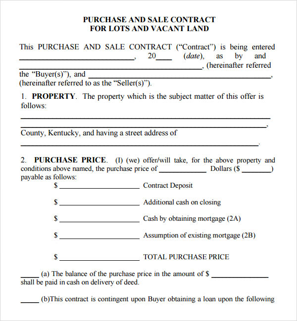 Purchase and Sale Agreement - 7+ Free PDF Download | Sample ...