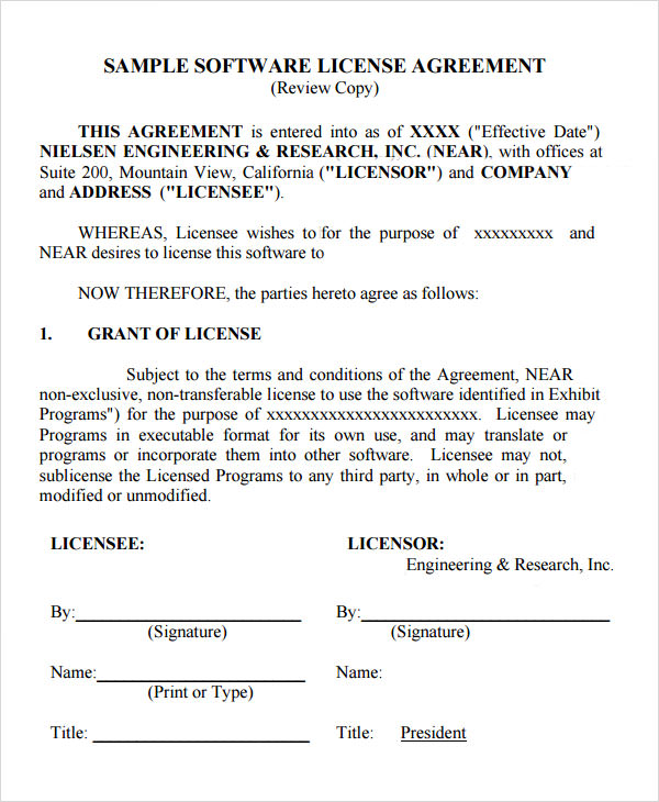 trademark license agreement template | Mytemplate.co