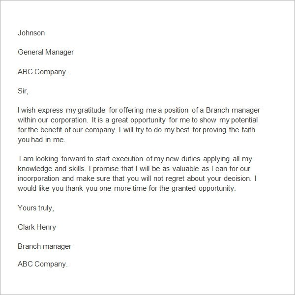 Sample Thank You Letter To Boss For Support Ownerletterco
