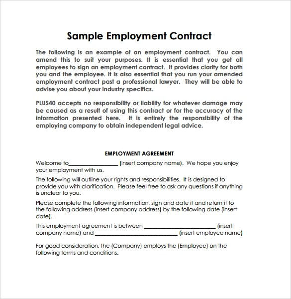 Sample Contract Employment Letter Malaysia  Docoments Ojazlink