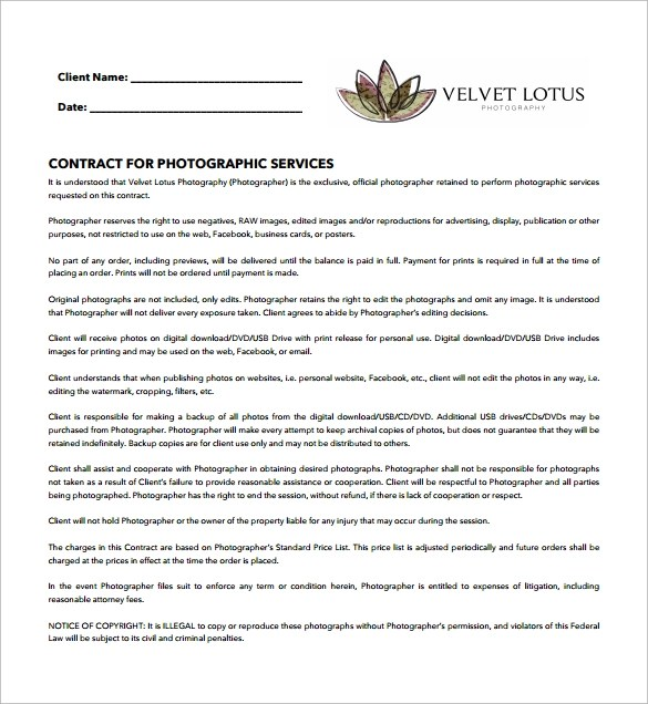 Simple Contract Template 9 Download Free Documents In Word PDF
