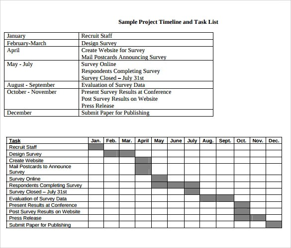 Project Timeline Template 14 Free Download For Word PPT PDF PSD