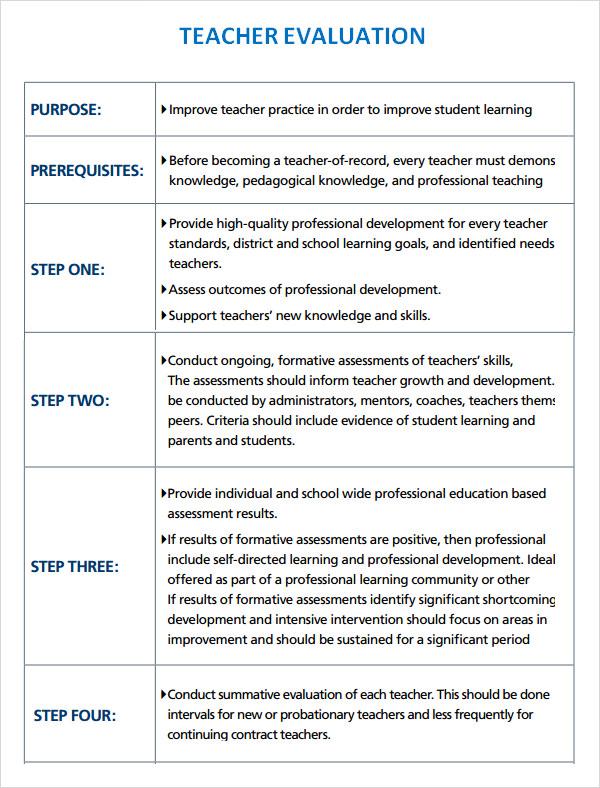 Comments Teacher Evaluation Student