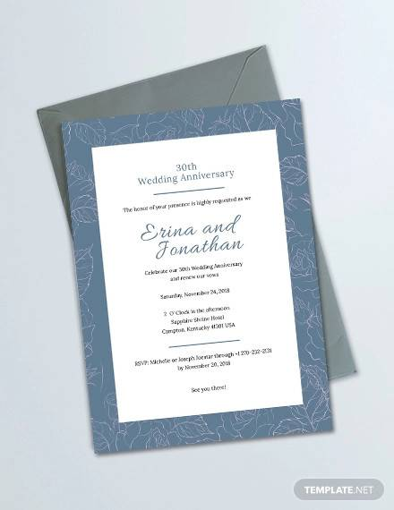 sample amazing anniversary invitation