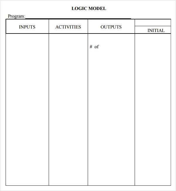 Blank Logic Model Worksheet