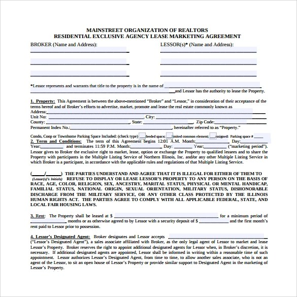 19 Sample Marketing Agreement Templates To Download Sample Templates