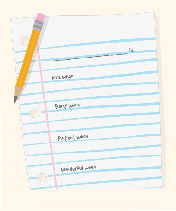 FREE 9+ Sample Notebook Paper Templates in PDF