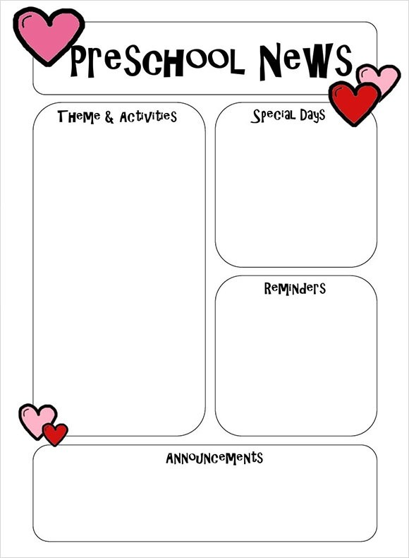 Downloadable resources for teachers, parents, and students. Free 8 Best Preschool Newsletter Templates In Ms Word Pdf Html Psd