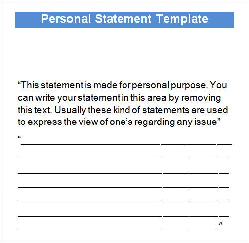 10 Statement Templates Sample Templates