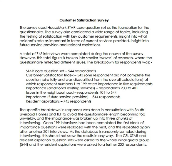 Customer Survey Cover Letters | Template
