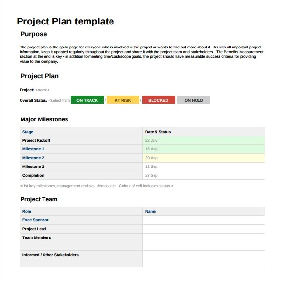 6 Sample Project Sheet Templates For Free Download Sample Templates