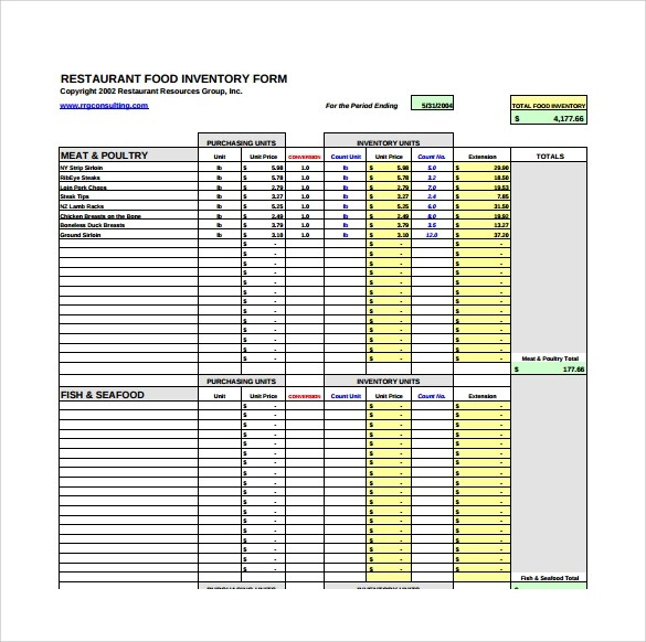 Keep track of parts and products with this inventory template for excel. Free 13 Restaurant Inventory Samples In Pdf