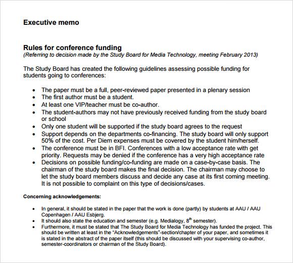 apa executive summary examples