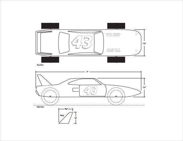 Templates Batman Pinewood Car Printable Derby