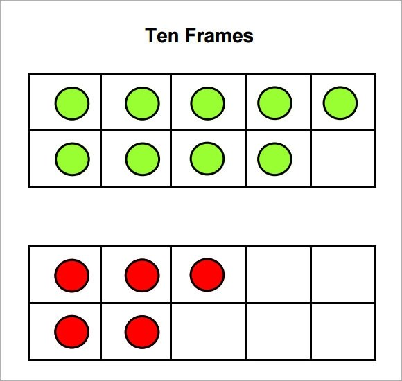 graphic about Double Ten Frame Printable named Totally free Printable 10 Frames With Dots