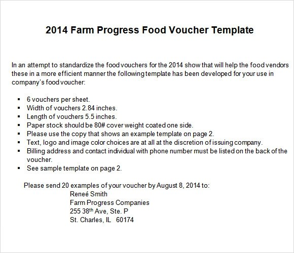 Food Voucher Template 8 Download Documents In PDF Word PSD