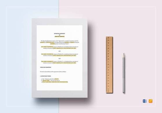9 Sample LLC Operating Agreement Templates to Download   Sample     Operating Agreement Template