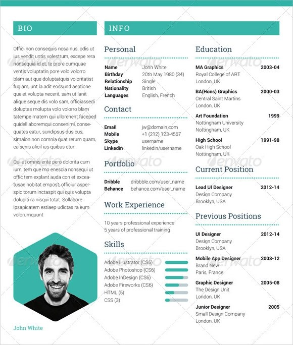7 photographer resume templates doents in pdf psd - Photographer Resume Template
