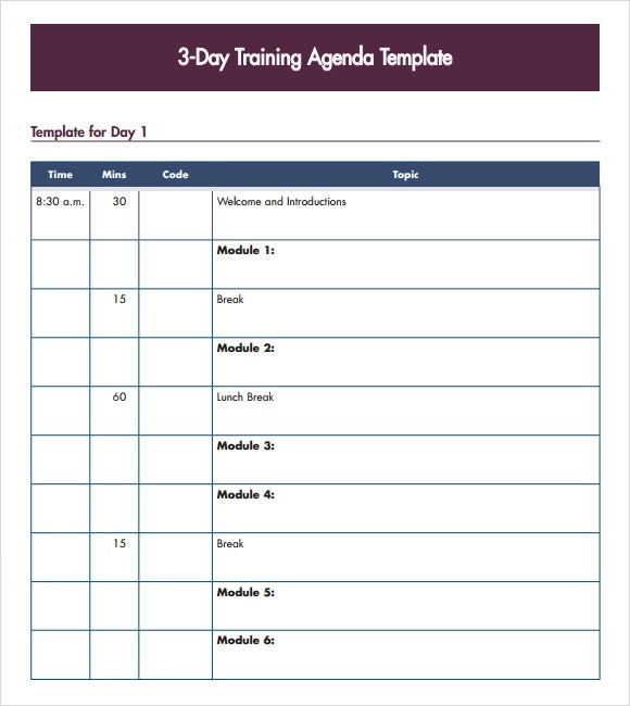15/03/2016·  download word template. Free 7 Training Agenda Samples In Pdf Ms Word