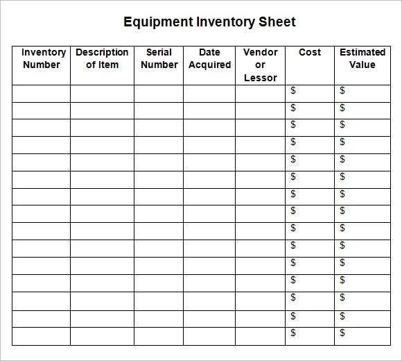 inventory sign out sheet template free download