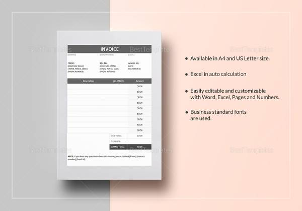 29  Sample Invoice Templates   Sample Templates Invoice Example in Excel