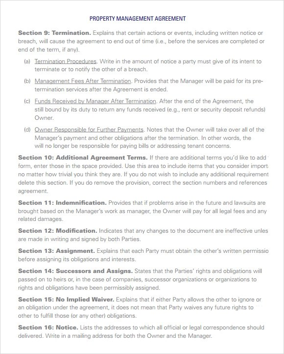 Property Management Agreement 10 Download Free Documents In PDF Word