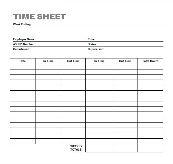 Time Sheet Templates. Image Result For What Is Timesheet Template ...