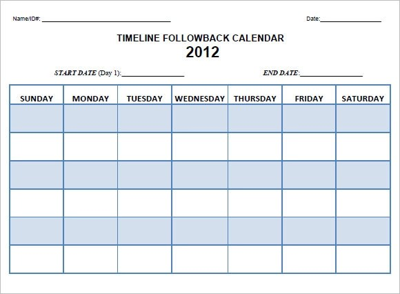 8 Calendar Timeline Templates Free Samples Examples Format