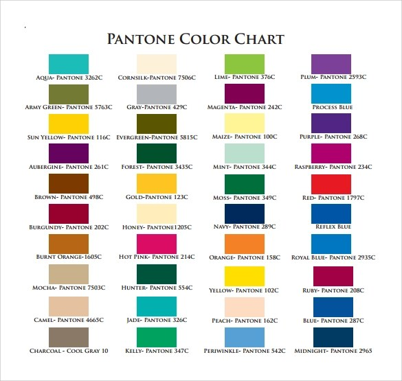 Pantone Color Chart Online