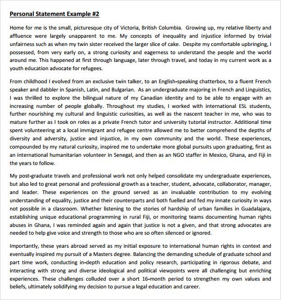 masters program masters program personal statement examples