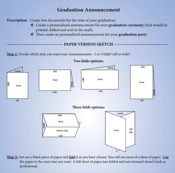 How Make Graduation Announcements