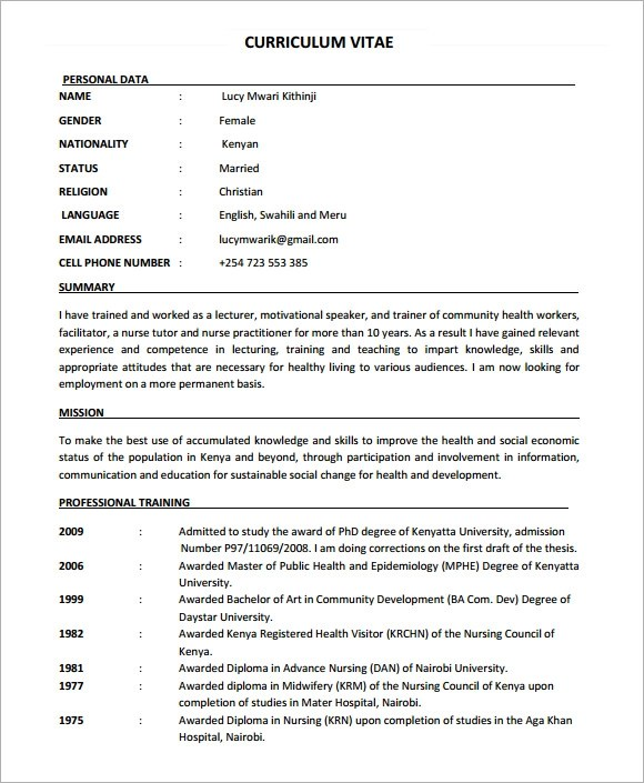 Free Nursing Resume  Resume Sample
