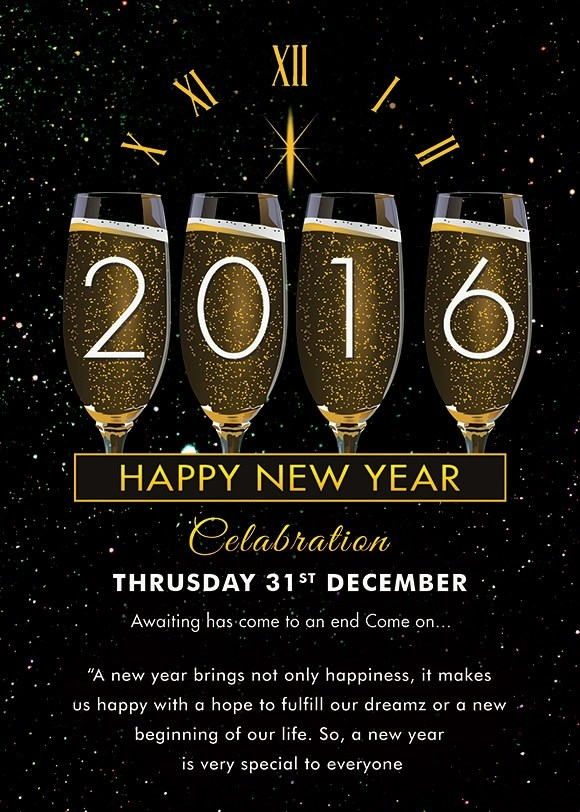 new year celebration invitation template merry christmas and happy