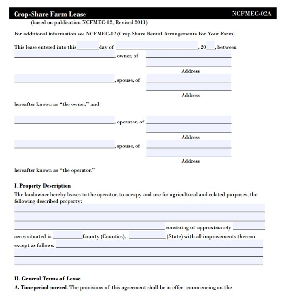 10 Land Lease Agreement Templates Sample Templates