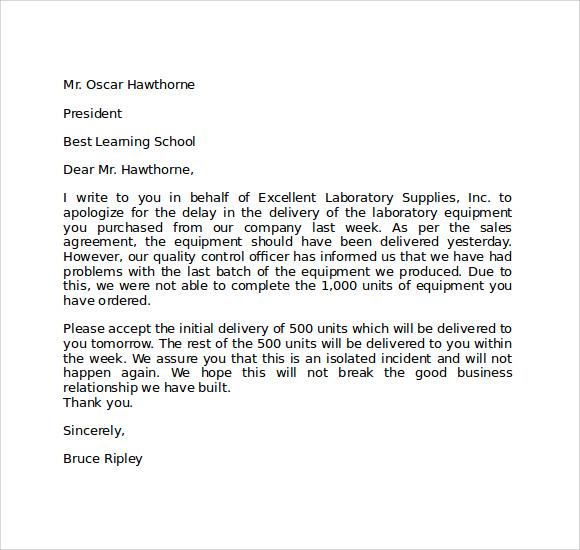 Sample Letter Tardiness School