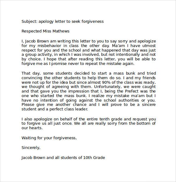 apology letter for disrespectful behavior | Docoments Ojazlink