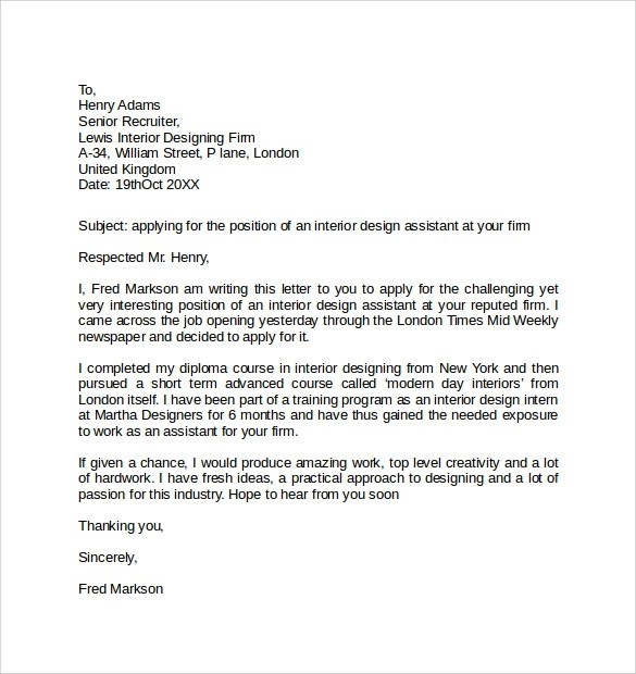 10 Simple Cover Letter Examples Sample Templates