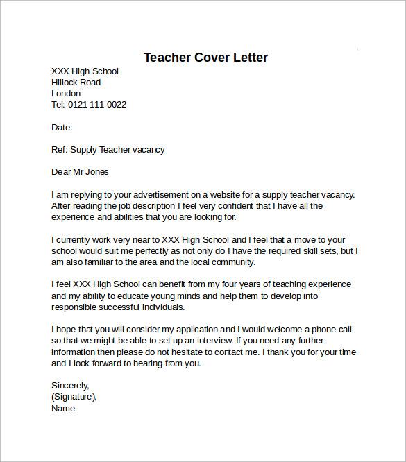 high school teaching cover letter sample docoments ojazlink