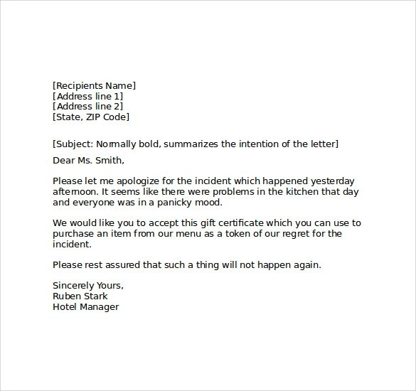 Hotel apology letter template gallery template design ideas product recall letter template letters font product recall letter apology letter maxwellsz altavistaventures Gallery