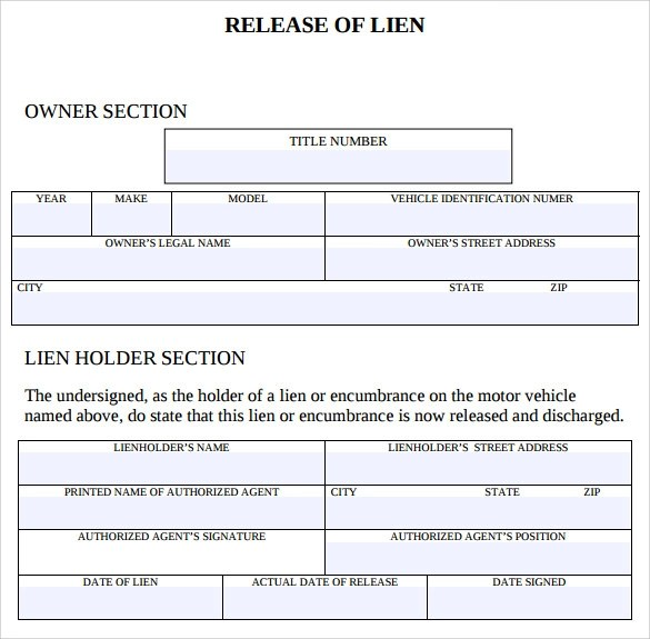 Lien Release Form. Legal Forms Of Philippines Mortgage Release ...