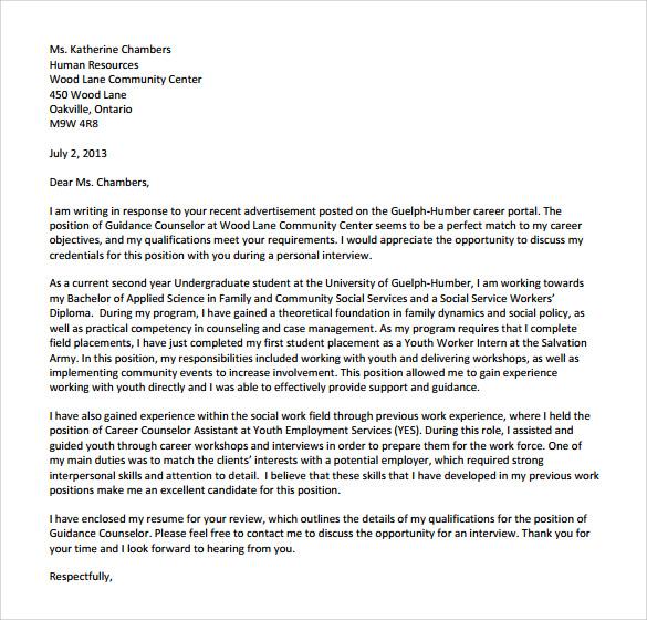 Sample Community Service Letter – Community Service Letter