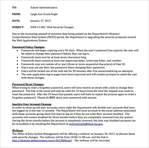 Email Memo Template 11 Download Free Documents In PDF
