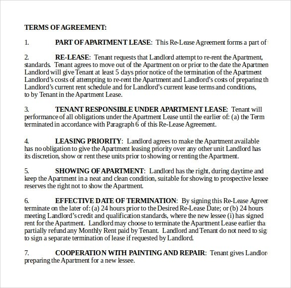 8 Apartment Lease Agreements Samples Examples Amp Formats Sample Templates