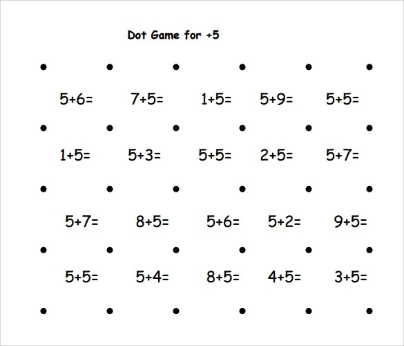 Sample Dot Game Template 9 Free Documents In PDF