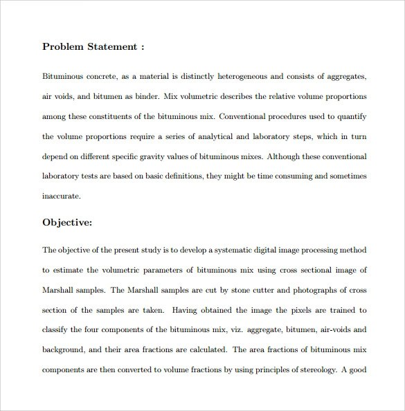 Problem Statement Templates Free Download