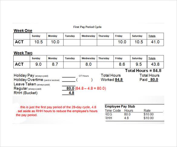 10 Employee Timesheet Calculator Samples Examples Amp Formats Sample Templates