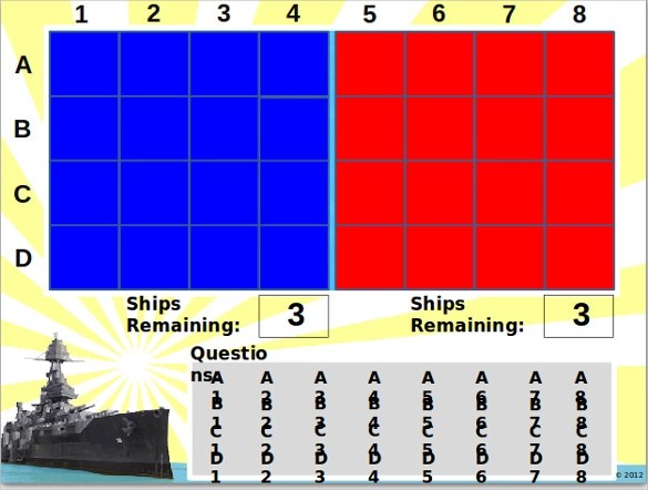 Battleship Game Samples Examples Templates 8 Documents In Word PDF Excel PPT